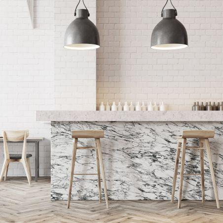 Papier peint panoramique marbre arabescato blanc & noir