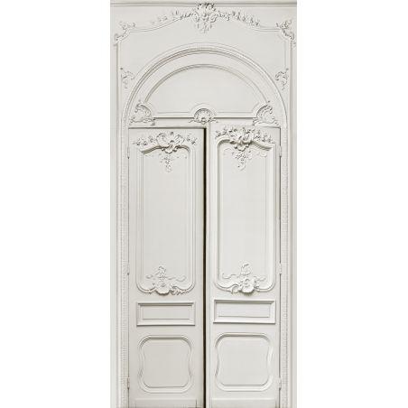 Double door with simple Haussmann panelling series II 138 cm