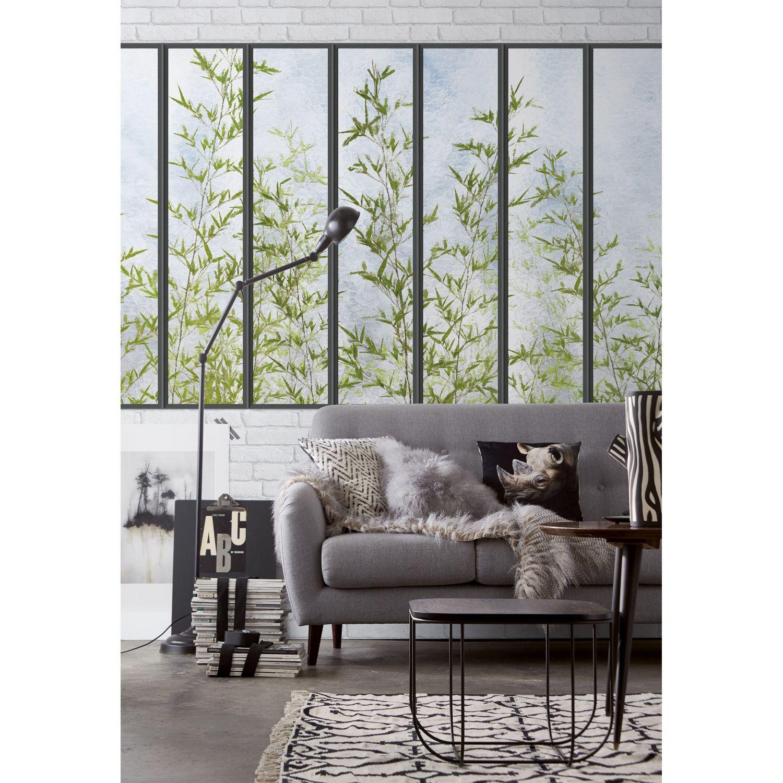 Papier Peint Panoramique Paysage papier peint panoramique petite verrière et bambous