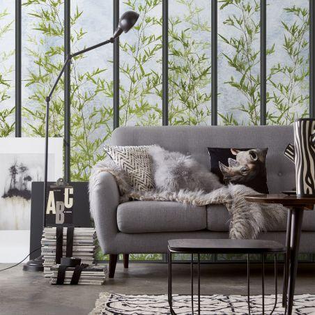 papier peint panoramique grande verri re et bambou. Black Bedroom Furniture Sets. Home Design Ideas
