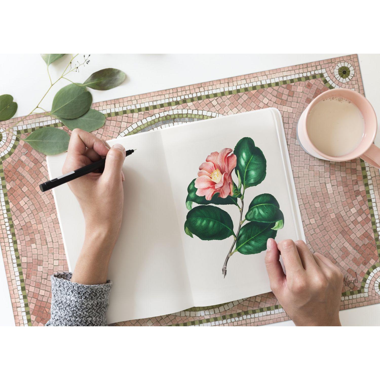Set De Table Vinyle Mosaique Vieux Rose
