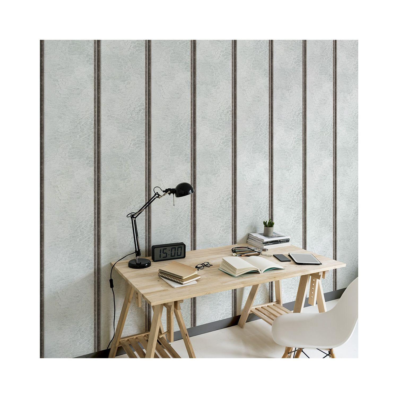 Papier Peint Style Atelier papier peint verrières d'atelier acier brossé verticales