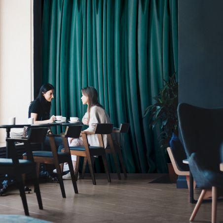 Papier peint panoramique rideau vert