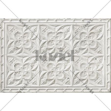 Tapis vinyle plaques victoriennes Blanc cassé Aria