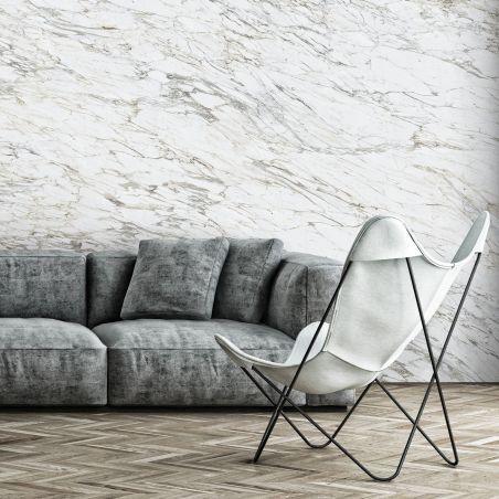 Papier peint panoramique arabescato gris beige