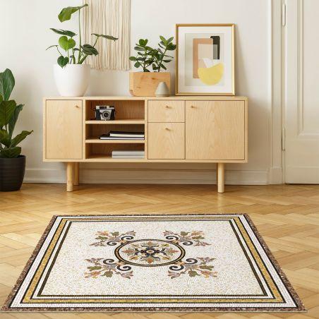 Vinyl mosaic rug Helena - XL Table size