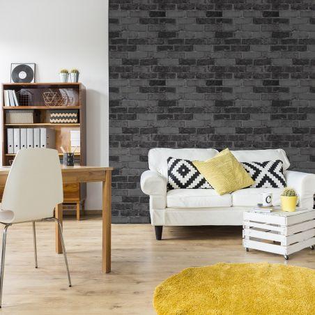 Grey bricks wallpaper - Outlet