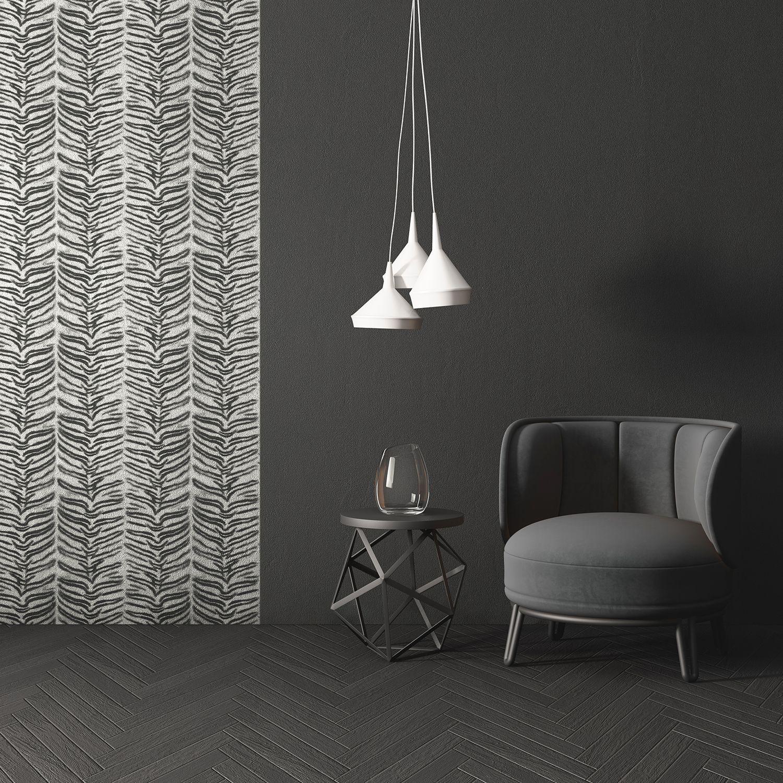 Fur Tiger Wallpaper Black And White