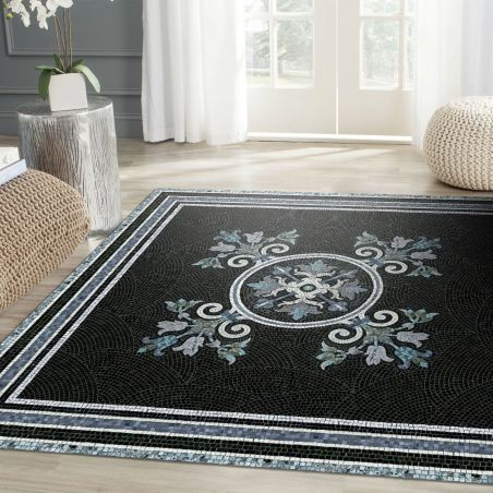 Vinyl mosaic rug Angelica - XL Table size