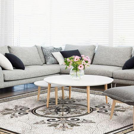 Vinyl mosaic rug Erika- XL Table size