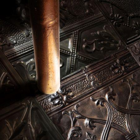 Carbon spirit antic tin tiles vinyl rug Gregoria