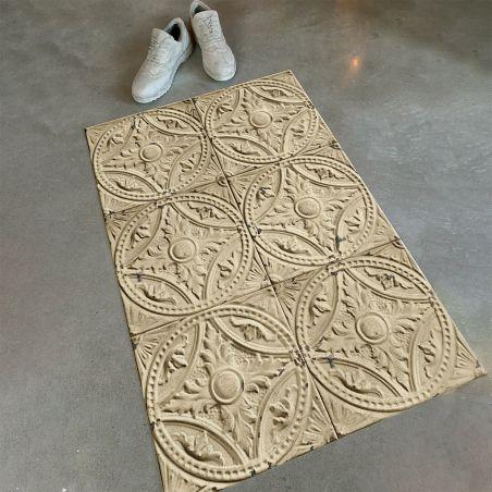 Beige antic tin tiles Vinyl Ava