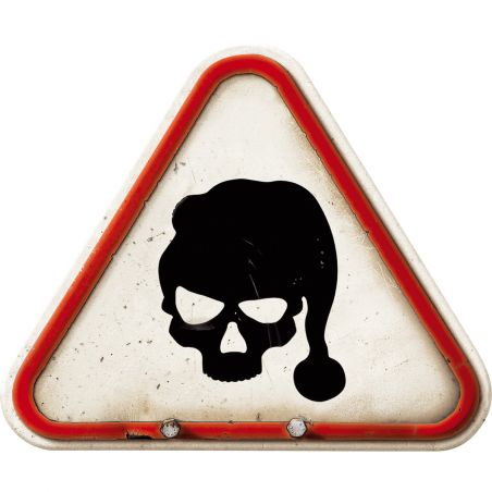 Pancarte Crâne de Noël - droit