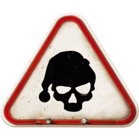 Pancarte Crâne de Noël - gauche