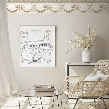 Beige romantic mouldings frieze