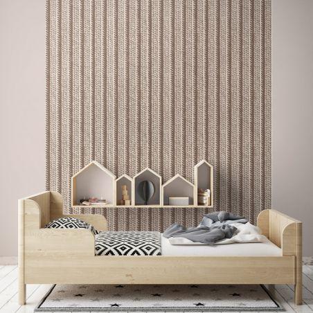 Beige knit wallpaper