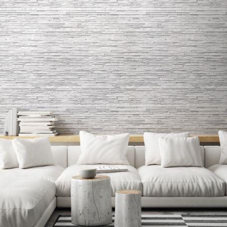 Greyish white basalt layers wallpaper