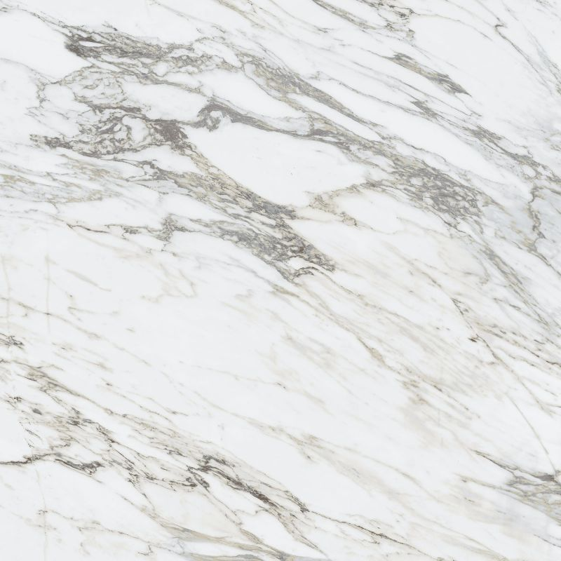 Beige gray arabescato marble panoramic mural open book effect