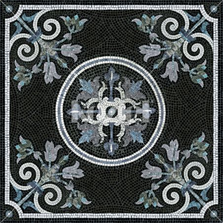 Vinyl mosaic rug Angelica - Table size