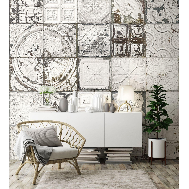 Papier Peint Panoramique Noir Et Blanc papier peint panoramique plaques victoriennes esprit blanc