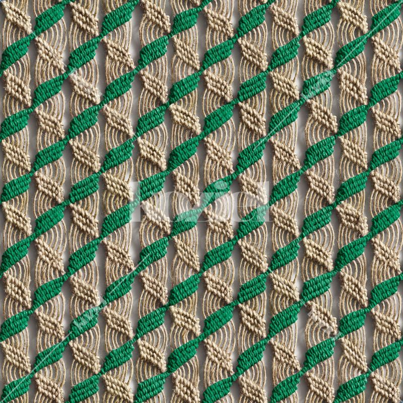 "Green macrame ""Majorelle scent"" wallpaper by Laurentine Périlhou"