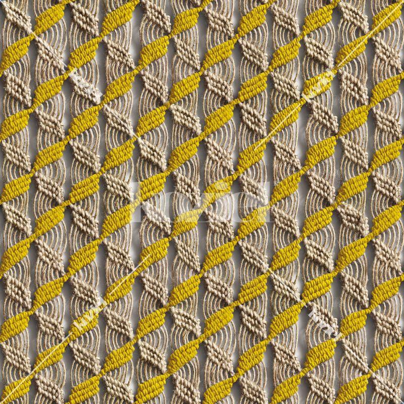 "Yellow macrame ""Majorelle scent"" wallpaper by Laurentine Périlhou"