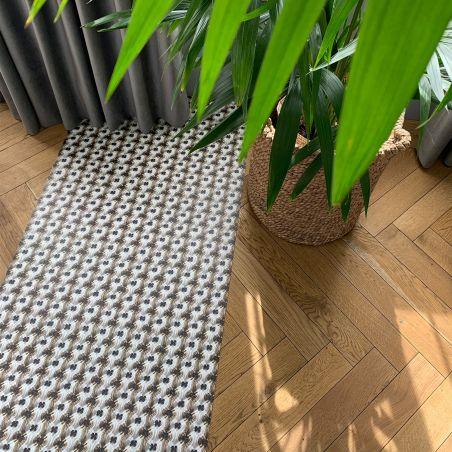 "Macrame ""Borneo"" vinyl rug by Laurentine Périlhou - runner size"