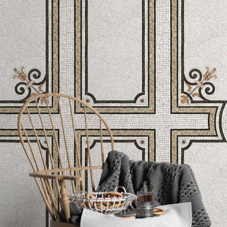 Décor mosaïque Haussmann désaturé panneau série III 138cm