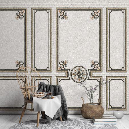 Décor mosaïque Haussmann désaturé panneau série I 70cm