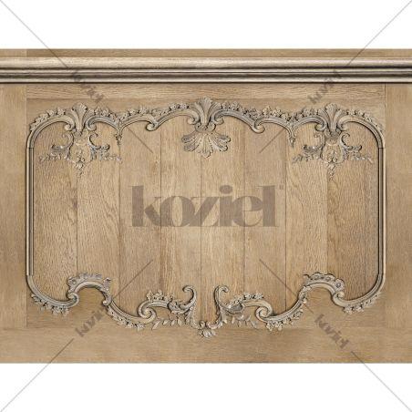 Velvet tapestry Louis XV sanded oak wainscot