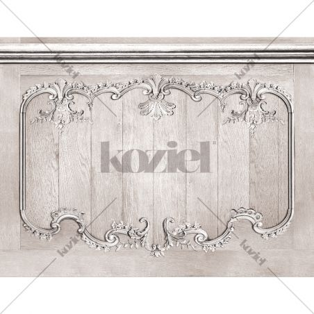 Velvet tapestry Louis XV grey oak wainscot