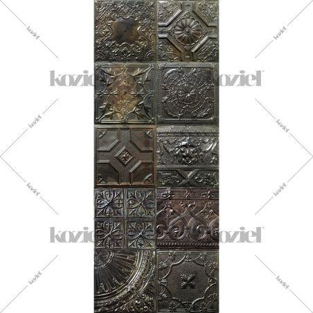Tapis vinyle plaques victoriennes Esprit carbone Gregoria runner