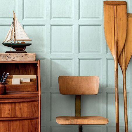 English wood paneling wallpaper - Aqua