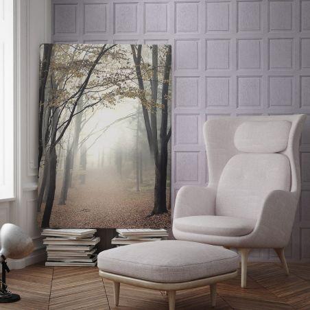 English wood paneling wallpaper - Wisteria