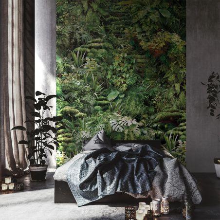 Papier peint panoramique jungle urbaine en plein jour en cascade