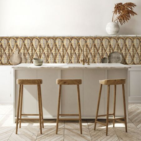 Philippe Model woven rattan frieze - Natural