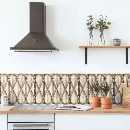 Philippe Model woven rattan frieze - My Fair Lady