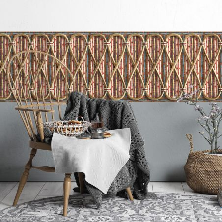 Philippe Model woven rattan frieze - French Bistrot