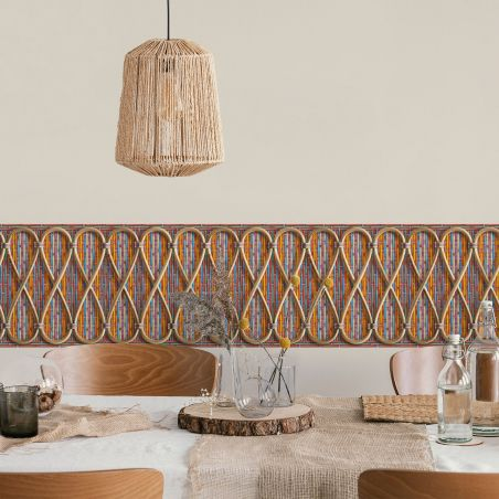 Philippe Model woven rattan frieze - Exotic