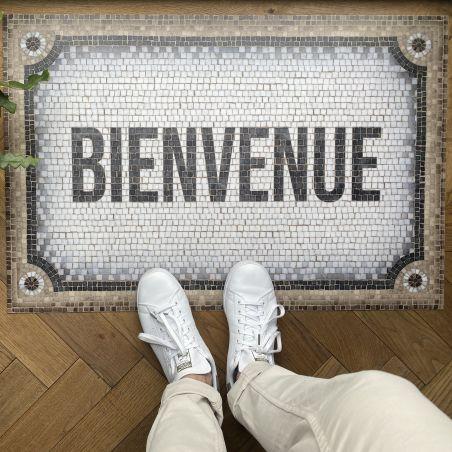 Mosaic vinyl rug Hassia - Welcome