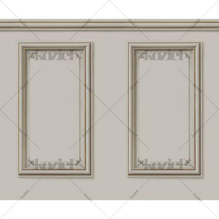 Haussmann wainscot wallpaper - Mastic