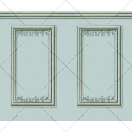 Haussmann wainscot wallpaper - Aqua