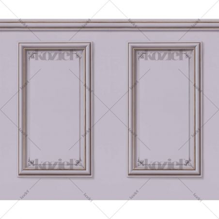 Haussmann wainscot wallpaper - Wisteria