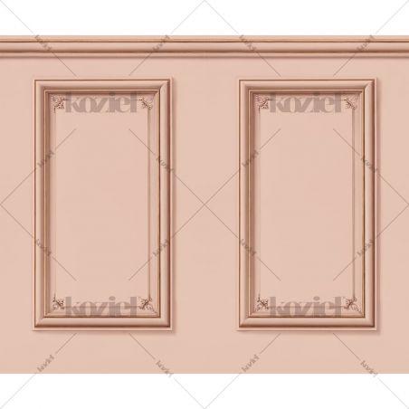 Haussmann wainscot wallpaper - Pink salmon
