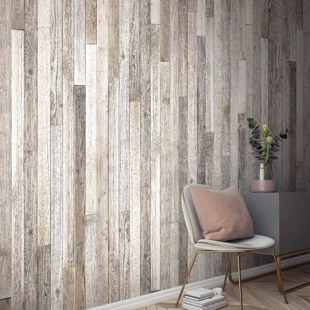 White rustic pallet wood Panoramic wall mural