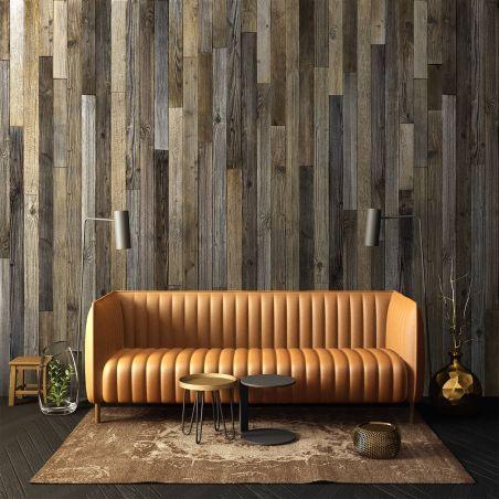 Papier peint panoramique planches de bois de palette moyen