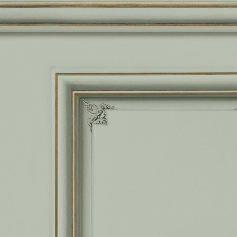 Papier peint soubassement Haussmannien Vert de gris - Echantillon