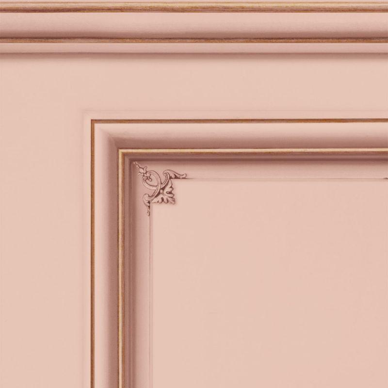 Papier peint soubassement Haussmannien Rose saumon - Echantillon