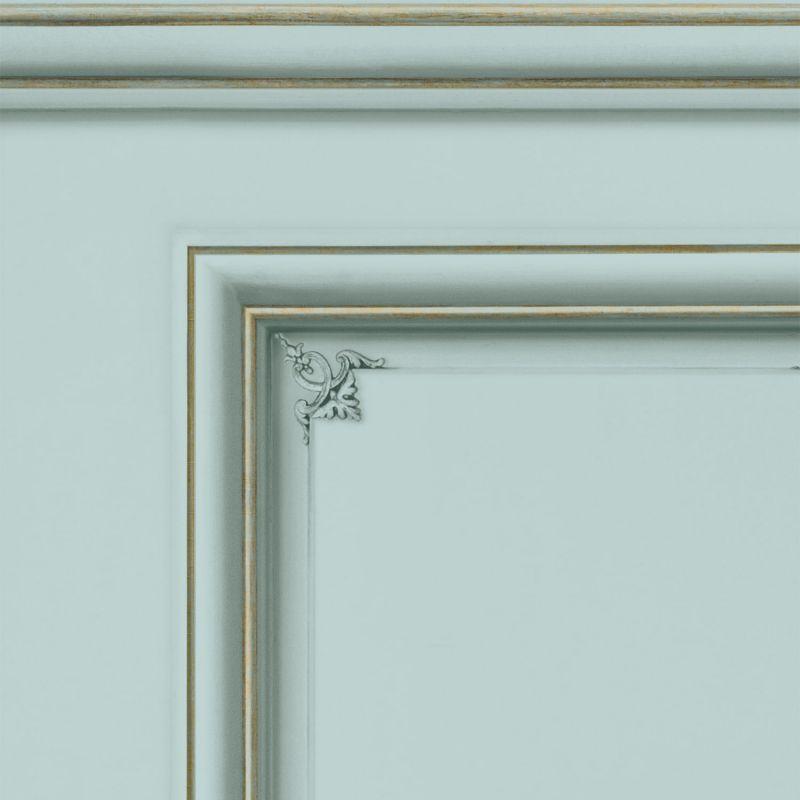 Papier peint soubassement Haussmannien Vert d'eau - Echantillon