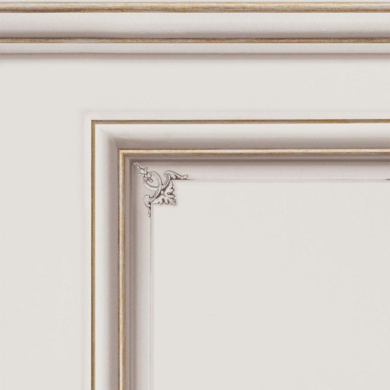 Papier peint soubassement Haussmannien Blanc porcelaine - Echantillon